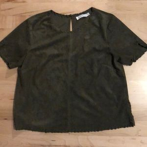 EUC Small Faux Suede LUSH Crop Top